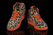 shoes,sportswear,sports shoes,nike,nike air,jordans,womens nike,leopard print,orange