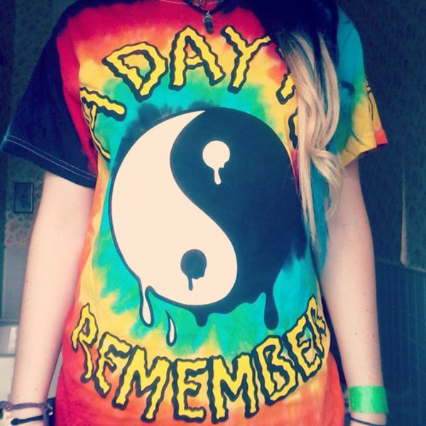 tie dye top a day to remember yin yang shirt love a day to remember cute best things ever