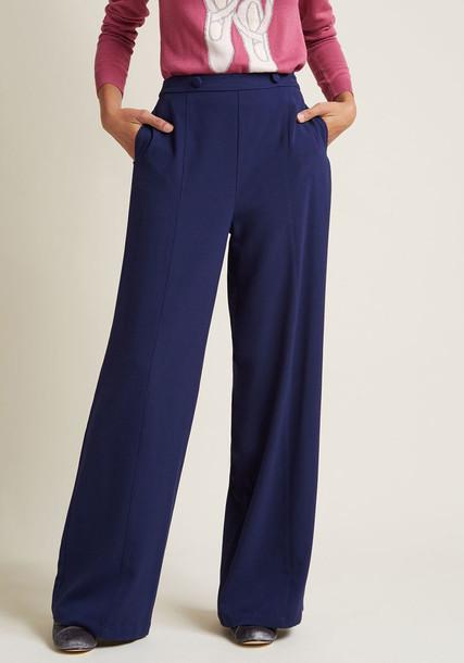 MCB1308 pants blue pants high desk navy blue