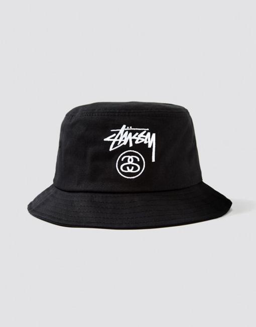 Stussy Stock lock bucket hat black
