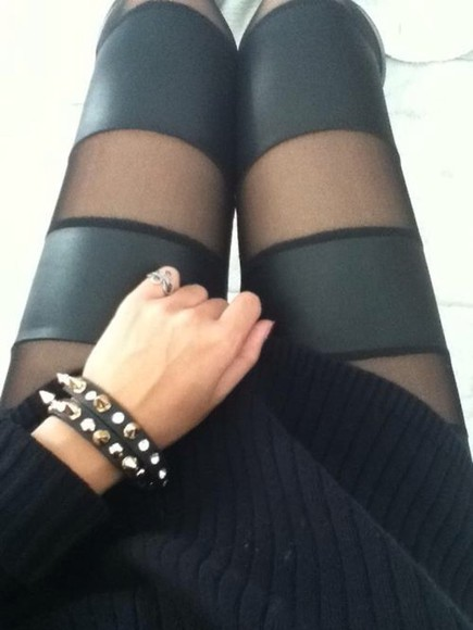 cute stripes stockings tights jeans black tights sheer sheer stripes