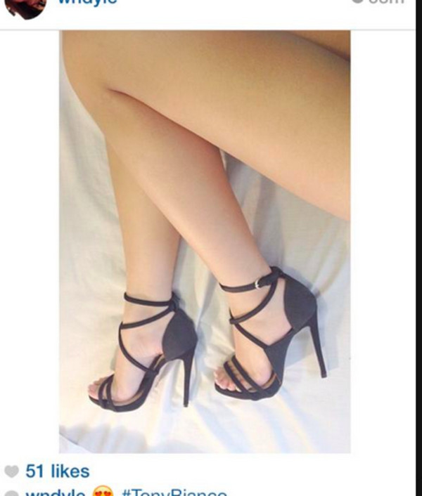 shoes heels tony bianco black strappy straps low