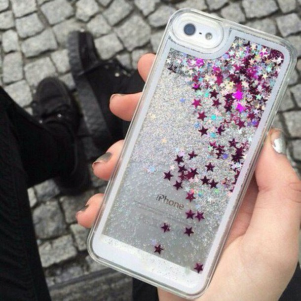 phone cover phone cover ihpone iphone 5 case iphone 6 case cover phone stars glitter sand transparent shiny cute vintage fashion girl hoes grunge hipster vogue internet tumblr