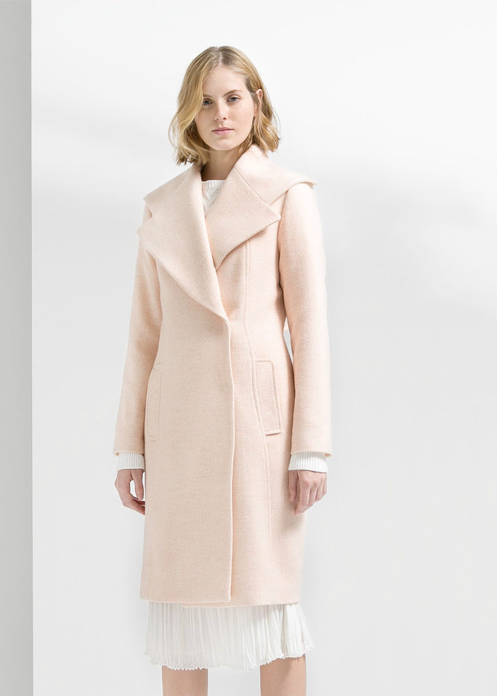MANGO - ZARA GROUP- WIDE LAPEL WOOL BLEND LONG COAT ALL SIZES AVAILABLE