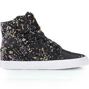 SUPRA WMNS SKYTOP - chaussure de skate - noir/or - KICKZ.FR