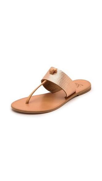 nice metallic sandals shoes