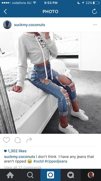 sweater grey sweater grey white white sweater grey and white lace up