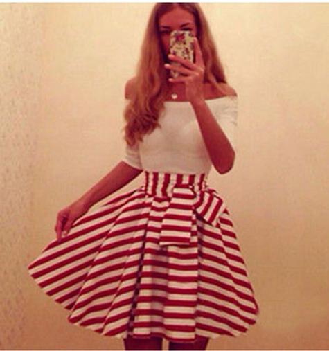 Fashion one word bow dress