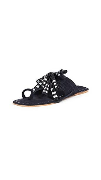 Figue tassel sandals navy shoes