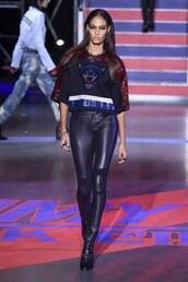 pants,crop tops,runway,london fashion week 2017,tommy hilfiger