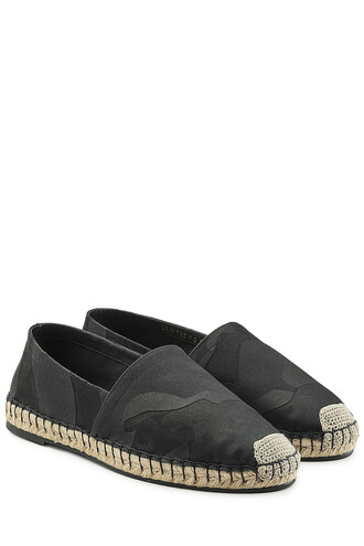 camouflage espadrilles black shoes