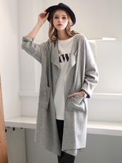 coat,Choies,light-gray,lapel,pocket-open-front
