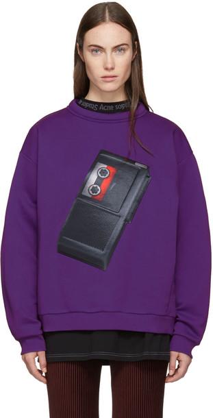 Acne Studios sweatshirt purple sweater