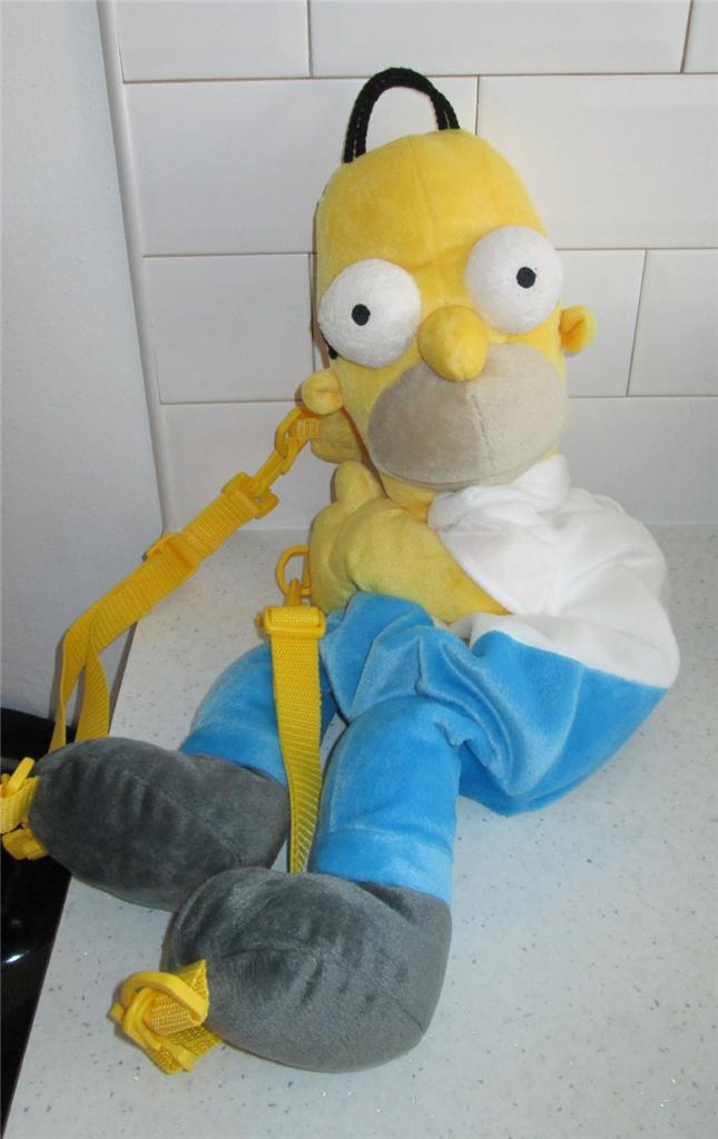 "27"" Homer Simpson Dad from The Simpsons Backpack Rucksack Soft Cuddly Bag Toy 