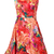 Red Sleeveless Back Zipper Floral Ruffles Dress - Sheinside.com
