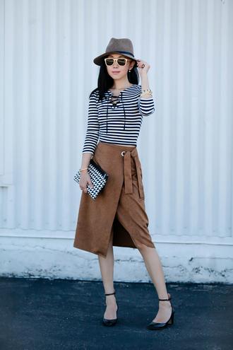 fit fab fun mom blogger top skirt hat shoes bag sunglasses jewels