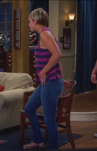 jeans big bang theory top kaley cuoco penny