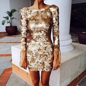 dress,clothes,sequindress,gold sequins dress,sequin dress,gold dress,gold,shiny,shinning,shinning dress,glitter,glitter dress,gold sequins,gold glitter,sexy,hot,chic,cool,fashion,couture,couture dress,maxi dress,bodycon,prom dress,cute dress,sequins,tumblr,cute,pretty,sparkle,junior prom,perfect,going out,sequinned,sexy short dresses,short prom dress,short,tight,long sleeves,mini dress,sparkly dress,short dress,long sleeve dress,gold sparkly dress,party dress,prom