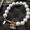 Chanel cc logo charms beads bracelet jewelry