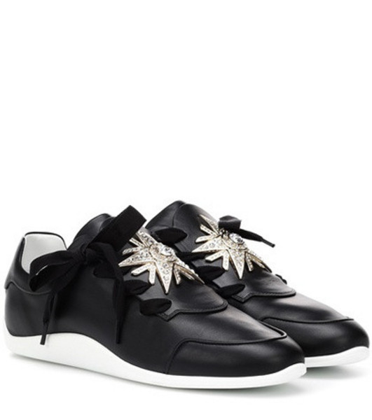 Roger Vivier Sporty Viv leather sneakers in black