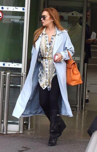 coat lindsay lohan shirt