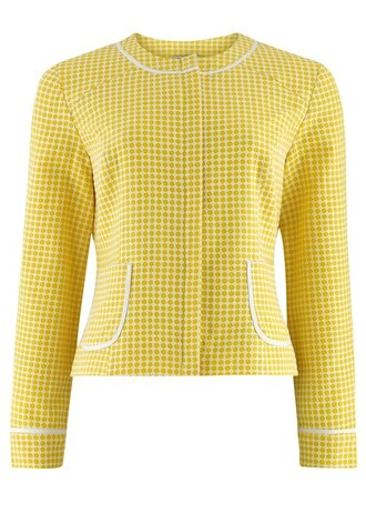 jacket daphne cropped zip up jacket in yellow yellow