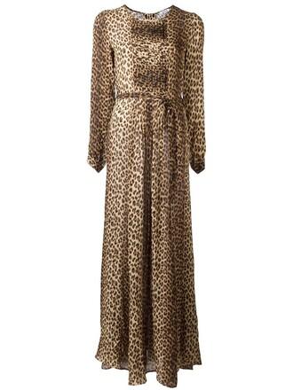 dress print dress leopard print dress women print silk brown leopard print