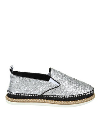 glitter espadrilles silver silver glitter shoes