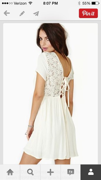 dress white dress daisy pattern