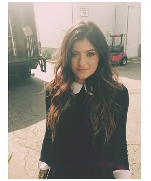 kylie jenner blouse peter pan collar peter pan collar dress