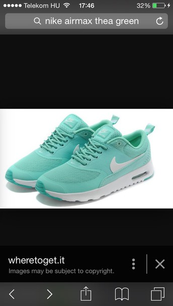 shoes nike air max thea t rkis mint wheretoget. Black Bedroom Furniture Sets. Home Design Ideas