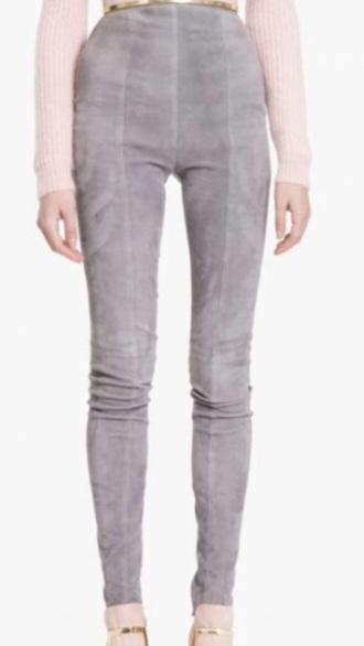 jeans grey pants suede pants skinny pants high waisted pants