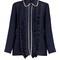Ruffled crepe blouse