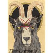 evil,giclee,hail,and,goth,mendes,satan,pentagram,print,capra,art,hell,goat,feral,poster,home accessory