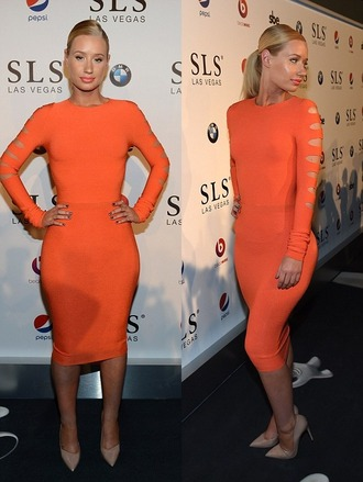dress shoes orange dress iggy azalea