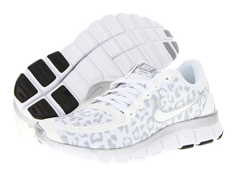 Nike Free 5.0 V4 White/Wolf Grey/Metallic Silver - Zappos.com Free Shipping BOTH Ways