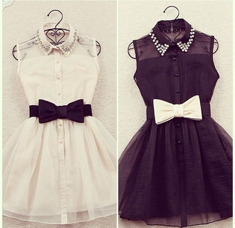 white dress black dress button up