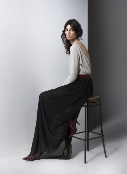 skirt gat rimon fashion lookbook sweater