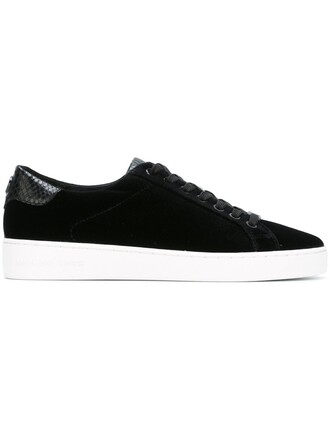 women sneakers leather cotton black velvet shoes