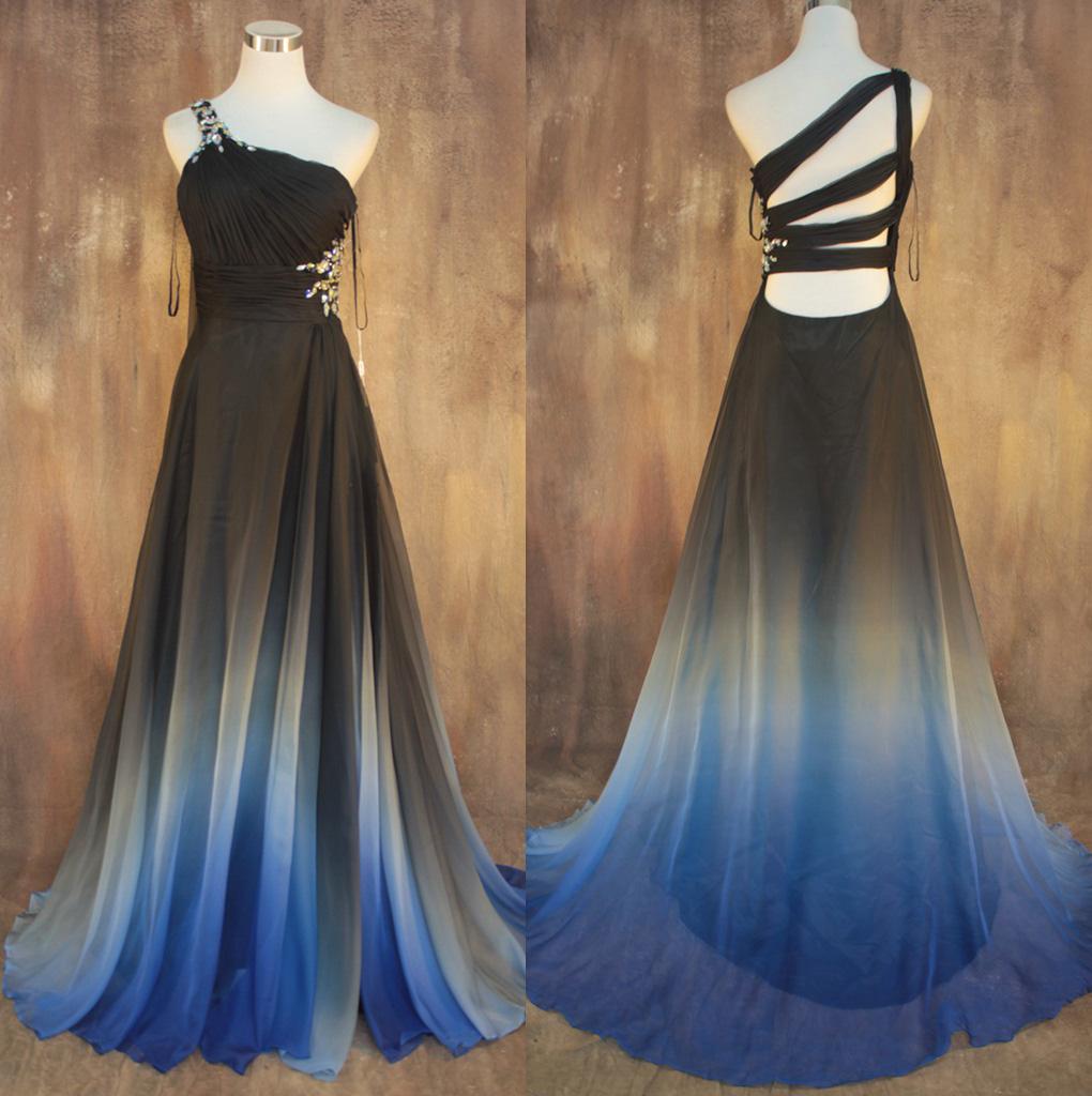 f69e3bde77e Blue And Black Ombre Prom Dress - Gomes Weine AG