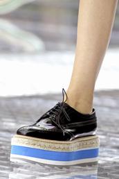 prada,blue shoes,black shoes,shoes