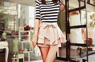 shoes cute ribbon shorts baby pink fluffy skirt