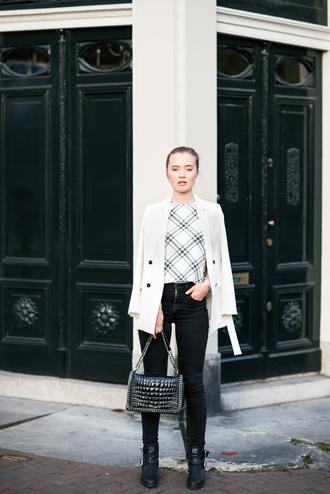 miss confidential blogger jacket top jeans bag shoes