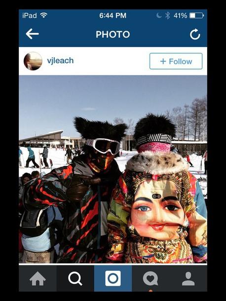 jacket hindu print colorful ski jacket snowboarding winter sports