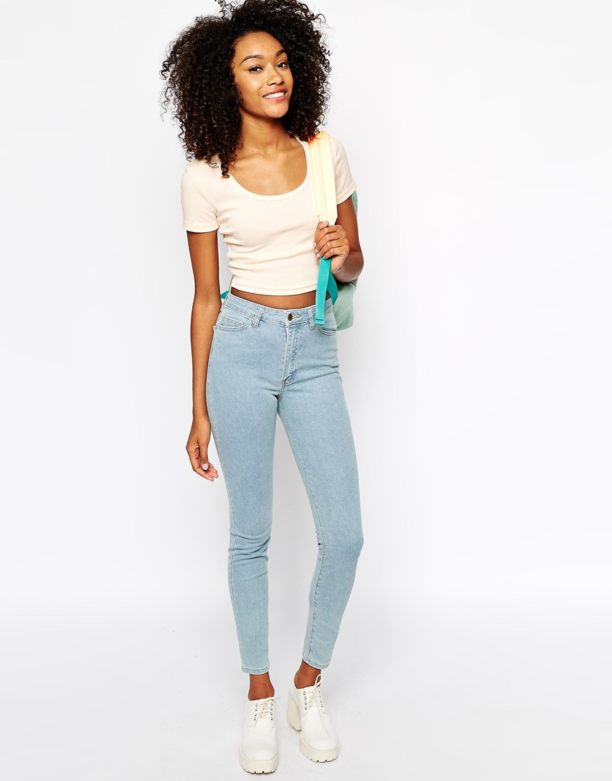 American Apparel Denim Pencil Pant at asos.com