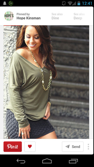 shirt green blouse