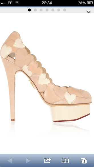 shoes pink high heels heart cute high heels