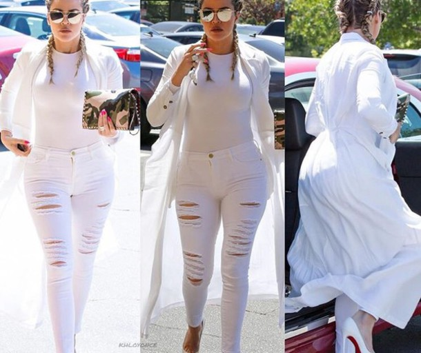 Khloe Kardashian All White Everything White Jeans - Shop for Khloe