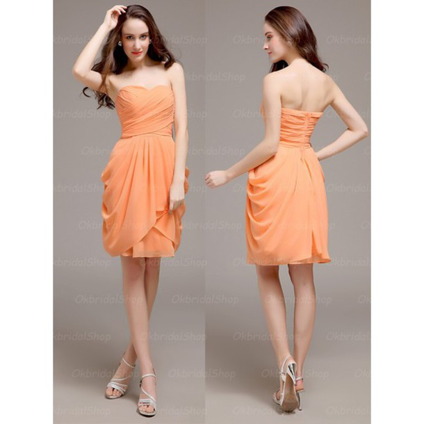 dress bridesmaid bridesmaid orange