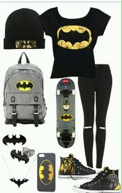 t-shirt,batman shirt,bag